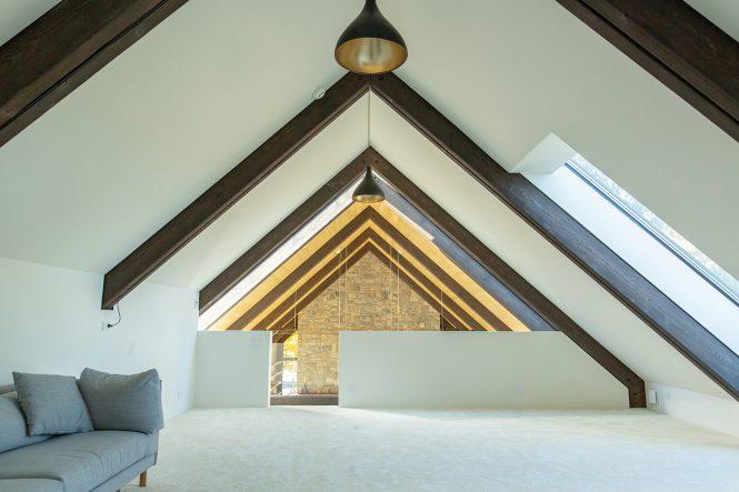 barn house stone hearth